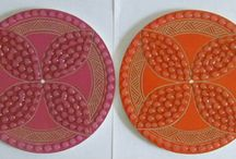 My art works / Glue dot art works, swirls, painting, carving  & pacific patterns