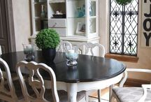Dining room sets painted