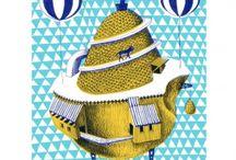 """Collection Rêves / La série """"Machines volantes"""" Artiste : Sarah Teulet Édition limitée à 70 exemplaires Numérotée et signée à la main par l'artiste Papier Nature Super Blanc Mat 250 g Format : A3"""