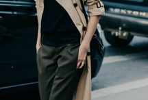 camel trench coat outfit
