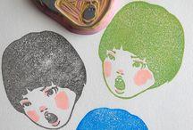 stamp#keshihan#keshigomuhanko#carving / by Nathalie Calle