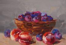 #fruits#flowers#still life#oil#painting#art#fine art