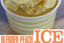 blender peach icecream