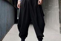 how to wear dhoti pants?