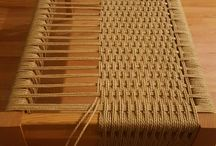 Weaving a table or seat