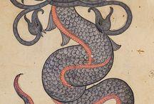 Monsters, чудовища, jinns etc. / Monsters in art