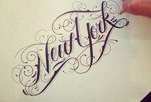 Hand drawing & handlettering.  Escrito a mano