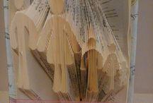 Recyclage de livres / Pliage de livres