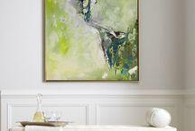 Paintings in green