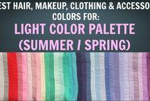 Light Summer / Light Spring Colour Palette - Colour Analysis / Color Analysis