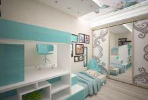 """Детская комната в Сталинке / Дизайн интерьера детской комнаты, площадью 15м. в """"Стлаинке"""", был реализован в 15-ти дневный срок."""