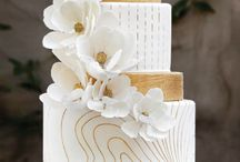 Agate and marbled cakes / Modern and classic wedding cakes with agate, marble or crystal theme