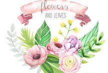 Acuarelas / Hermosas ilustraciones con acuarelas.
