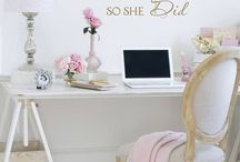 pink white glamour bedroom