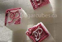 monogrammed sugar cubes
