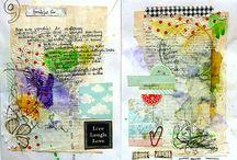 Art journal/ mixed media