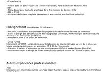 Expériences professionnels / • Audiovisuel • Graphisme & scénographie • Intervention pédagogique •