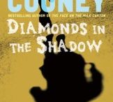 """Diamonds in the Shadow / """"Crackling language and nailbiting cliffhangers provide an easy way into the novel's big ideas, transforming topics that can often seem distant and abstract into a grippingly immediate reading experience."""" Publishers Weekly, Starred Review"""