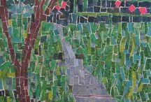 дерево мозаика
