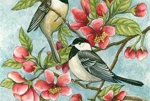kuşlu cicek