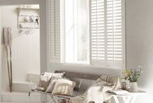 Beautiful window shutters / Dress your window and smarten up your interior. Lovely inspiration for light, Scandi-style living rooms with wooden window shutters, in collaboration with Hillarys.