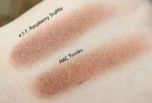Makeup Dupes & Swatches / Budget dupes of high end makeup products with swatches where possible.