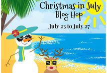 Christmas In July Blog Hop / Christmas sewing and quilting ideas