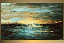 Malba krajina / Malba - krajina, města, příroda, voda, moře
