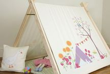 A Frame tents / Play Houses and Dens from www.izabelapeters.com / Designed, printed and handmade in our UK studio.