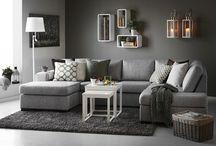 sofá cinzento