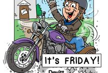 Motorcycle Cartoons / We love motorbikes and cartoons so we made some :)