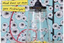 Verzameling Recycle-Ideeën / Wat heeft er bij jou in huis een tweede leven gekregen? Maak er een leuke foto van en plaats deze op onze Facebookpagina: https://www.facebook.com/IamRecycled?ref=hl. Op dit bord worden alle foto's verzameld.  Degene met het leukste/mooiste/origineelste/grappigste Recycle-Idee heeft kans om een gave Picklelight van Rescued te winnen!