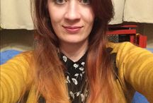 My new Red-pastel orange ombre hair