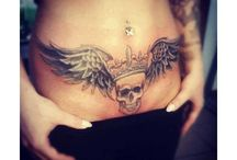 Girl Tattoo Stomach