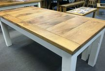 Tables / Tables in oak, Pine and Painted woods. All bespoke and made for each customer.