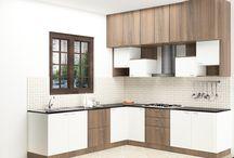 L Shaped Modular kitchen Designs / Modular L- shaped kitchen designs in Bangalore