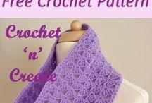 crochet scarfs, shawls & cowls