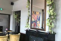 Wanddecoratie / Wanddecoratie bij eetgelegenheid 'Bij 5' te Naaldwijk...