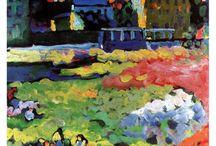 Wassily Kandinsky (1866-1944) / Peintre russe d'art abstrait, du XIX et XXe siècle.