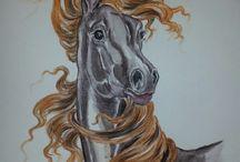 Lovas rajzok - horse draw