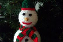 Christmas Ornaments / Hand-knit Christmas ornaments
