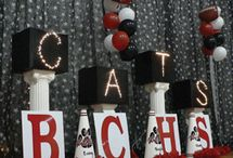 Homcoming decorations (stages)