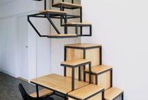 stairs / 1 / trap naar de entree  2 / trap van wachtkamer > droomruimte 3 / trap naar buiten