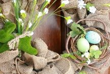 Spring & Easter decorating / by Billie Calderwood
