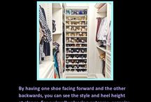 Pinterest Inspired Organization- Tricks, Tips, Hacks / Looking for great ways to organize your clothes and shoes? Then you will find just what you need with these pinterest inspired tips.
