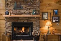 Log Homes with Fireplaces / Honest Abe Log Homes can help you design your dream home with a stone fireplace. We have log home floor plans with fireplaces in living rooms, bedrooms, and outdoor living spaces.