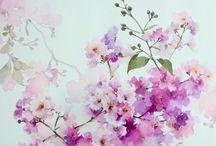 Akvarelové kvety