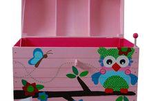 Speelgoedkist / Unieke speelgoedkisten, opbergkisten, herinneringskisten en geboortekisten handgeschilderd!
