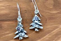 Silver Earrings / Handmade silver stud and drop earrings