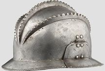 Burgonet helmets (Only historically accurate) / Early modern period (1492 – 1750) European helmets of the type burgonet / burganet, proto-burgonet (have features of sallets and morions), and closed burgonet. Closely related to, and often confused with armet type helmet.